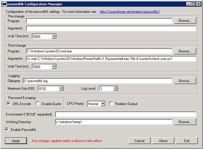 Microsoft ActiveDirectory — обновление паролей пользователей во внешних хранилищах