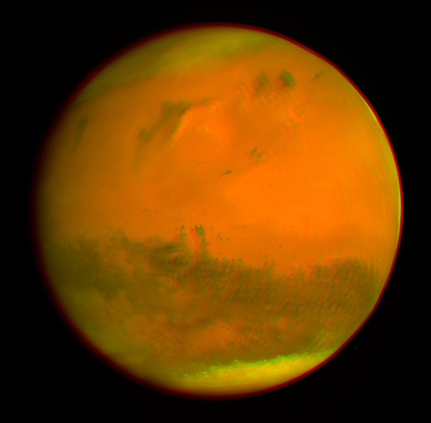 3D снимок Марса на основе фотографий индийского орбитального спутника Mangalyaan + фото от Rosetta