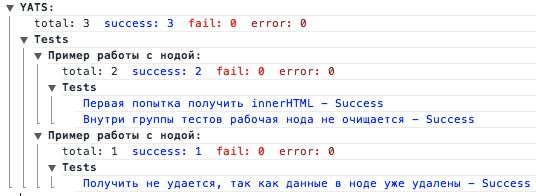 Unit тестирование в js. YATS — поделка для написания юнит тестов