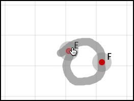 Жест Окружность по центру и точке