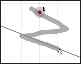 Жест Параллельная прямая через заданную точку
