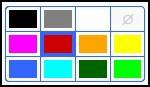 Цвет заливки точки