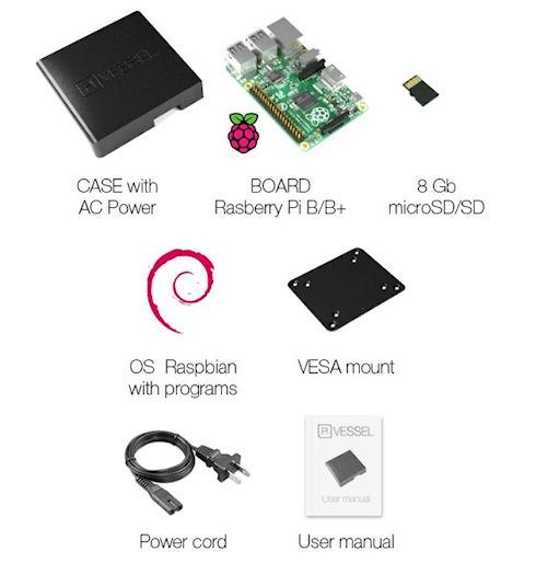 Pi Vessel – миниатюрный компьютер для работы и развлечений