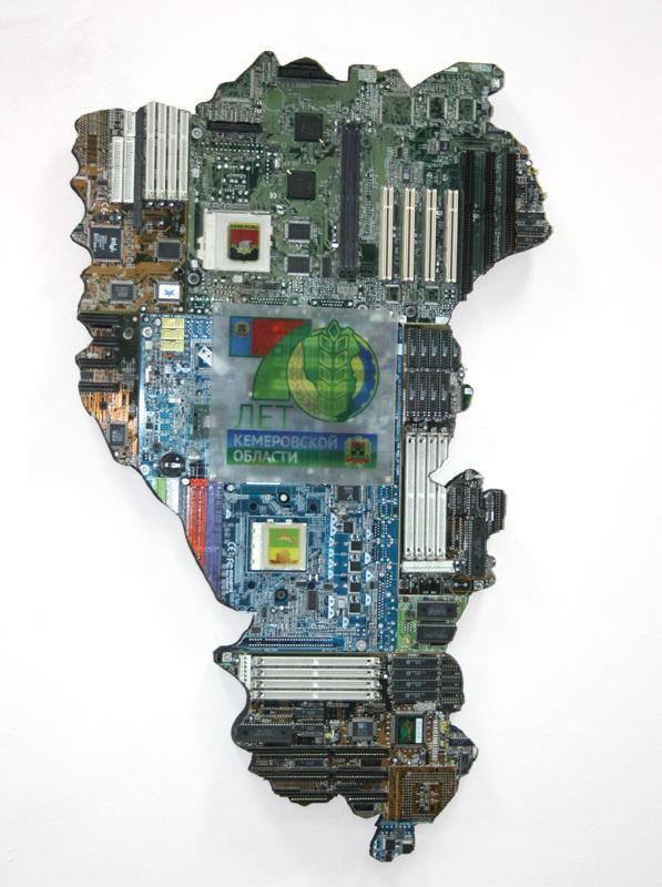 «Неинтерактивная» карта из электронного мусора