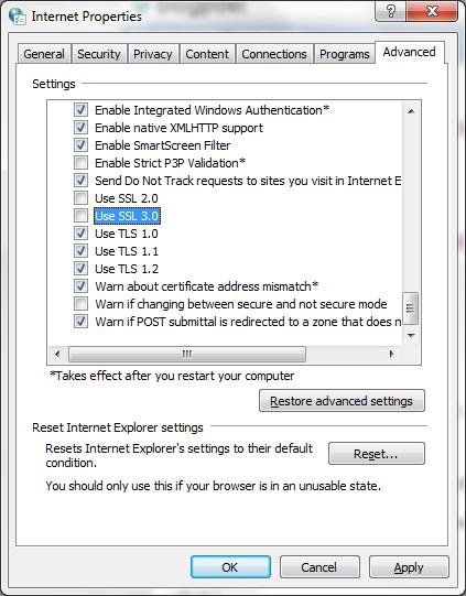 Как защитить свой сервер от уязвимости POODLE SSLv3