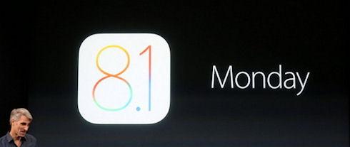 iOS 8.1 поможет Apple «исправить ошибки»