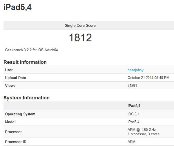 Тестирование раскрыло секреты планшета Apple iPad Air 2