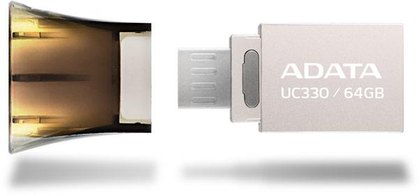 Adata UC330 Dual USB обеспечивает резервное копирование и удобный обмен данными между ПК и мобильными устройствами
