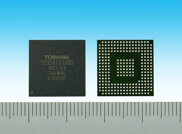 Для внешнего оформления TC358791XBG выбран корпус типа FBGA257 размерами 15 х 15 мм