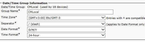 Меняем временные зоны на Cisco Call Manager 10.x