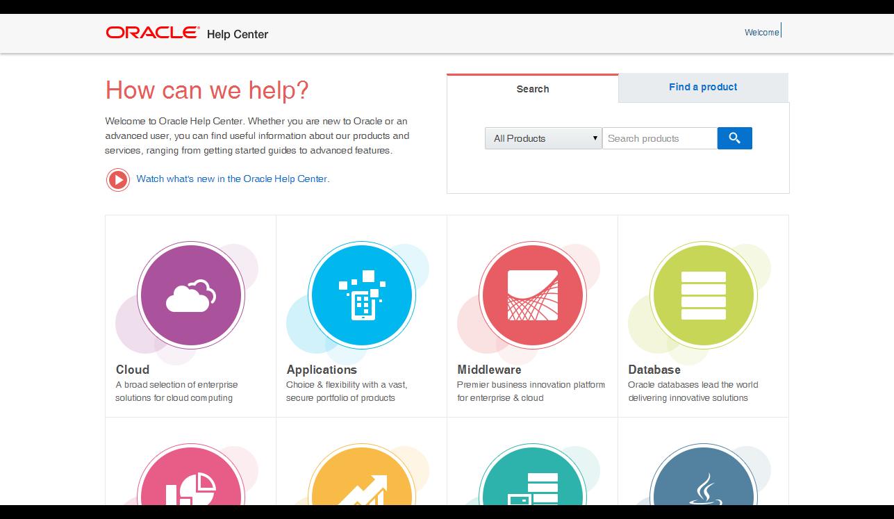 Обновленный дизайн документации по продуктам Oracle