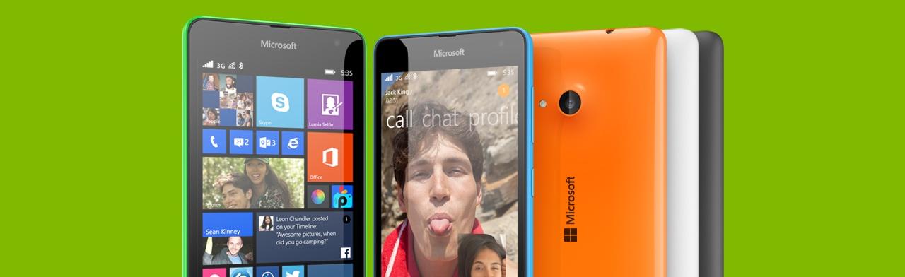 Lumia 535 — первый смартфон Microsoft Lumia