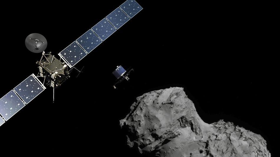 Первый в истории контакт с кометой: посадка зонда Philae