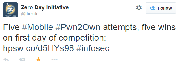 Mobile Pwn2Own 2014: итоги - 1