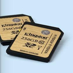 Карты памяти Kingston Digital Class 10 UHS-I microSD и SDHC/SDXC работают в диапазоне температур от -25°C до +85°C