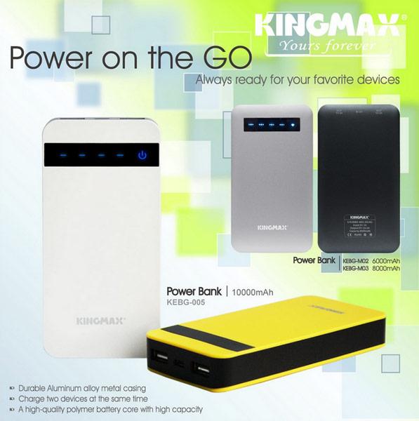 КПД мобильного аккумулятора Kingmax KEBG-005 достигает 92%