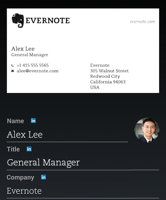 В Evernote для Android появилось сканирование визиток - 2