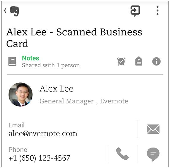 В Evernote для Android появилось сканирование визиток - 3