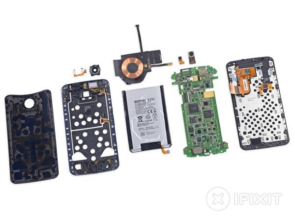 Ремонтопригодность Nexus 6 сравнительно высока