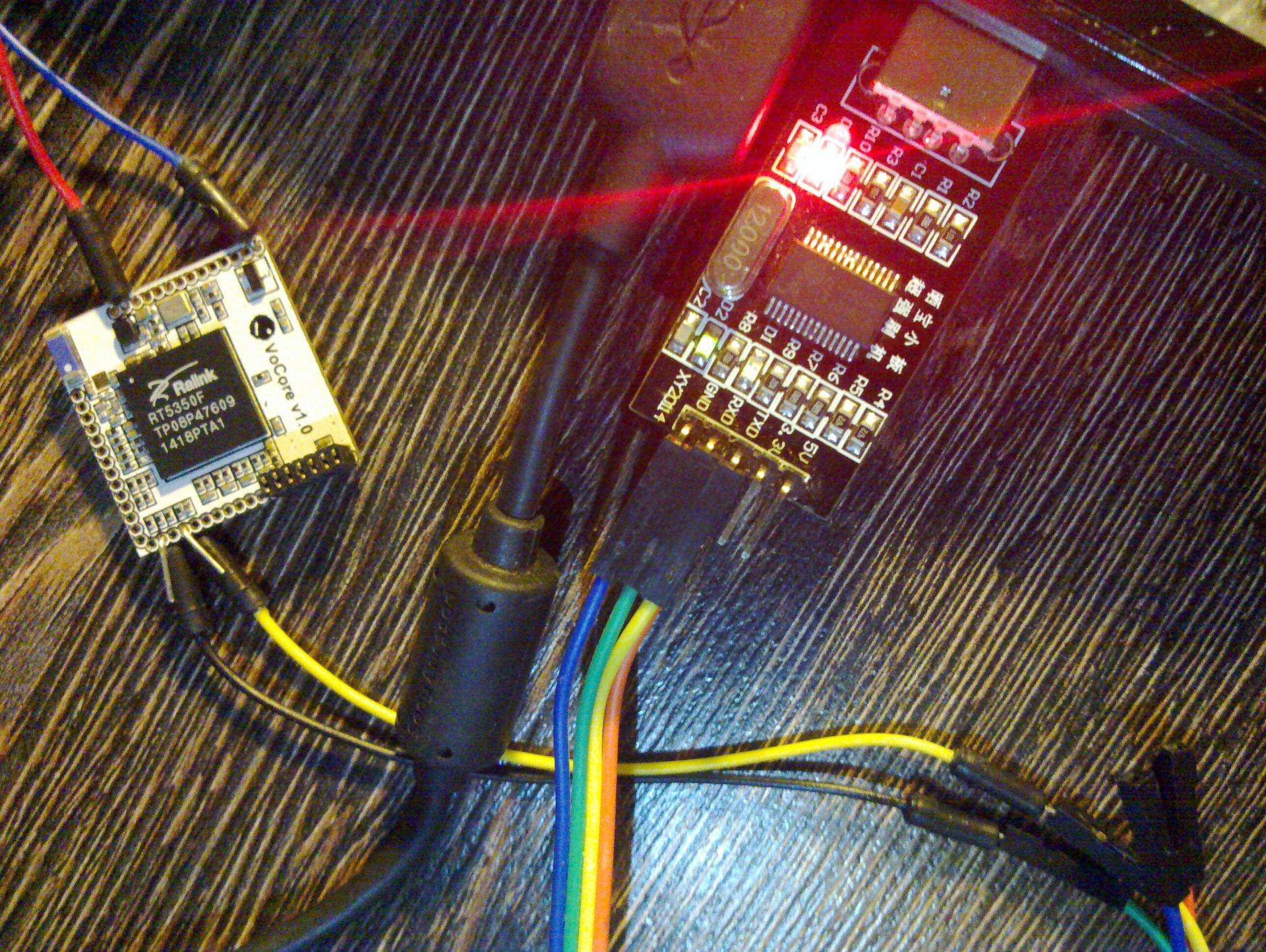 Обновление прошивки VoCore: UART - 3