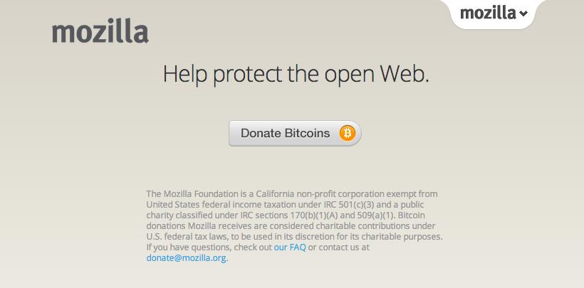 Фонд Mozilla начал принимать пожертвования в биткоинах - 1