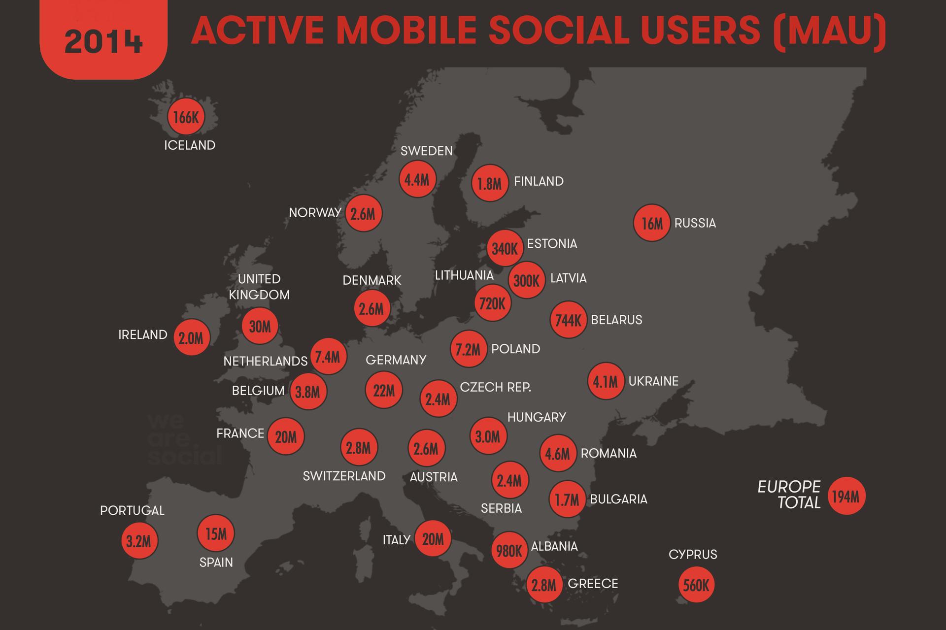 Компания Global Web Index представила статистический отчет о интернет предпочтениях жителей Европы в 2014 году - 9