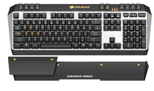 В игровой клавиатуре Cougar 600K используются переключатели Cherry MX - 1