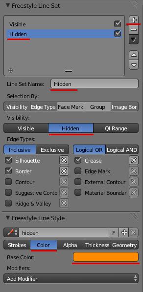 Принципиальные схемы в Blender. FreeStyle - 12