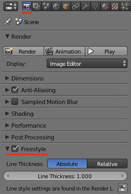 Принципиальные схемы в Blender. FreeStyle - 4