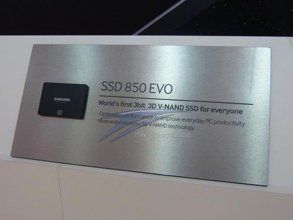 Samsung предложит SSD 850 Evo  в пяти вариантах объема памяти