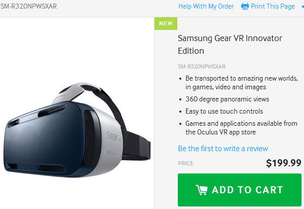 Шлем виртуальной реальности Samsung Gear VR Innovator Edition стоит $200