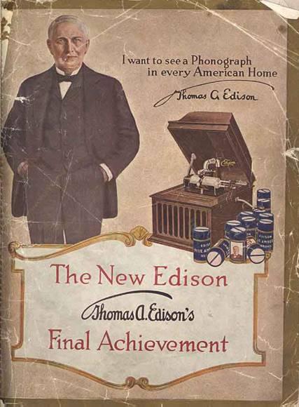 История цилиндрического фонографа Томаса Эдисона - 1