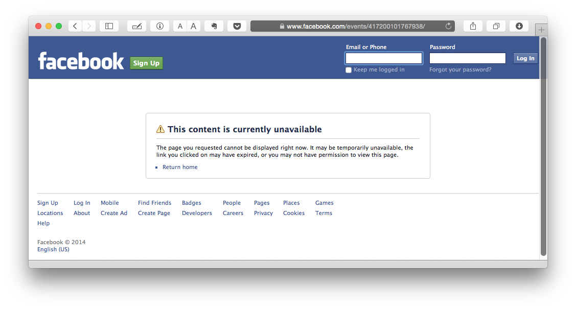Цензура в Facebook и Вконтакте для российских пользователей - 1
