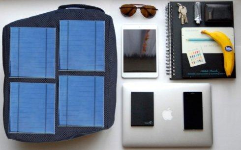 Разработан уникальный рюкзак с солнечными батареями
