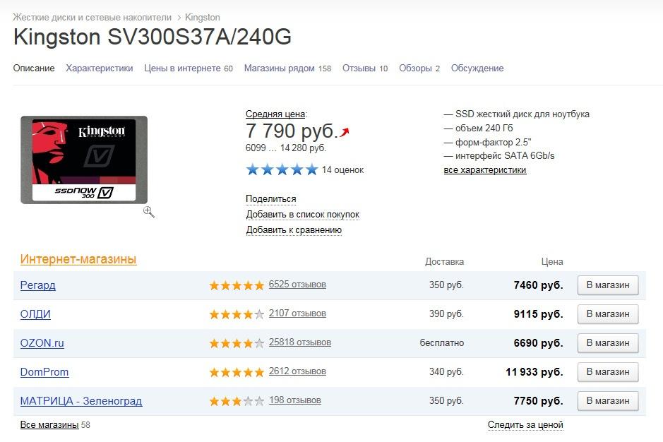О поиске недорогой замены престарелому SSD - 14