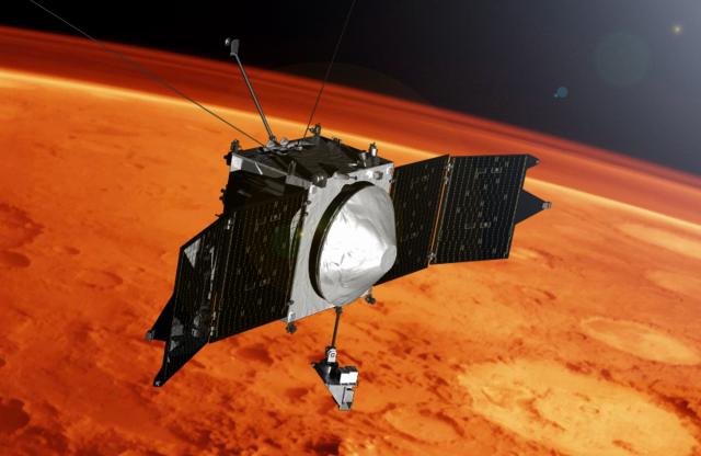 Орбитальная марсианская станция MAVEN: что сейчас изучает аппарат? - 1