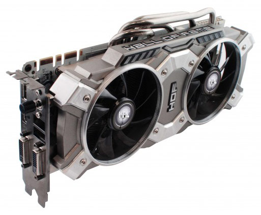 Компоненты 3D-карты Galaxy GeForce GTX 780 HOF+ ОС смонтированы на плате белого цвета