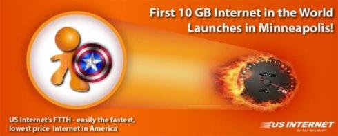 Американцы запустили первый 10 Гигабитный пользовательский интернет