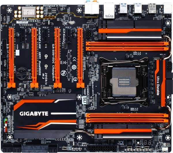 Основой системной платы Gigabyte X99-SOC Champion служит чипсет Intel X99 Express