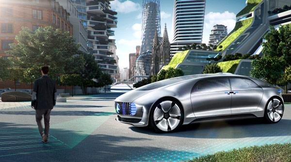 В концептуальном автомобиле Mercedes-Benz F 015 Luxury in Motion, показанном на CES, установлен экспериментальный модуль Leap Motion Meadowhawk - 5