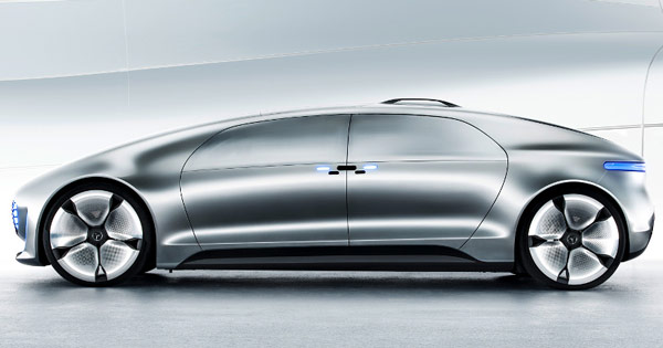 В концептуальном автомобиле Mercedes-Benz F 015 Luxury in Motion, показанном на CES, установлен экспериментальный модуль Leap Motion Meadowhawk - 1