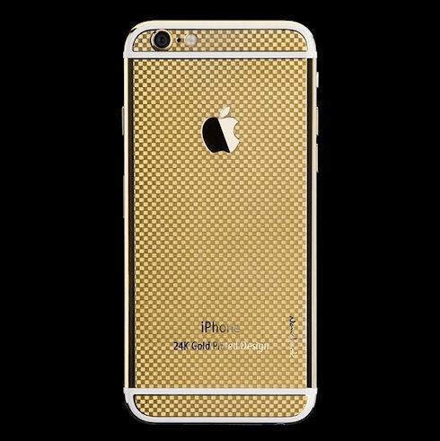 Китайцы выпустили золотые iPhone 6 с текстурой «под карбон» (ФОТО)