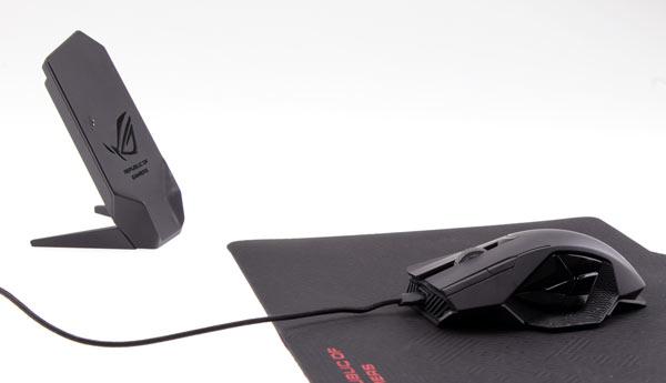 В мыши Asus ROG Spatha используется лазерный датчик