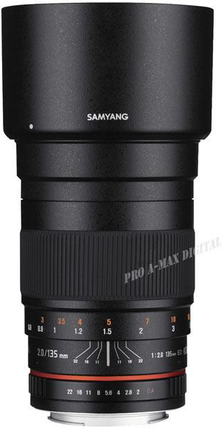 Полнокадровый объектив Samyang 135mm F2.0 ED для зеркальных камер Canon
