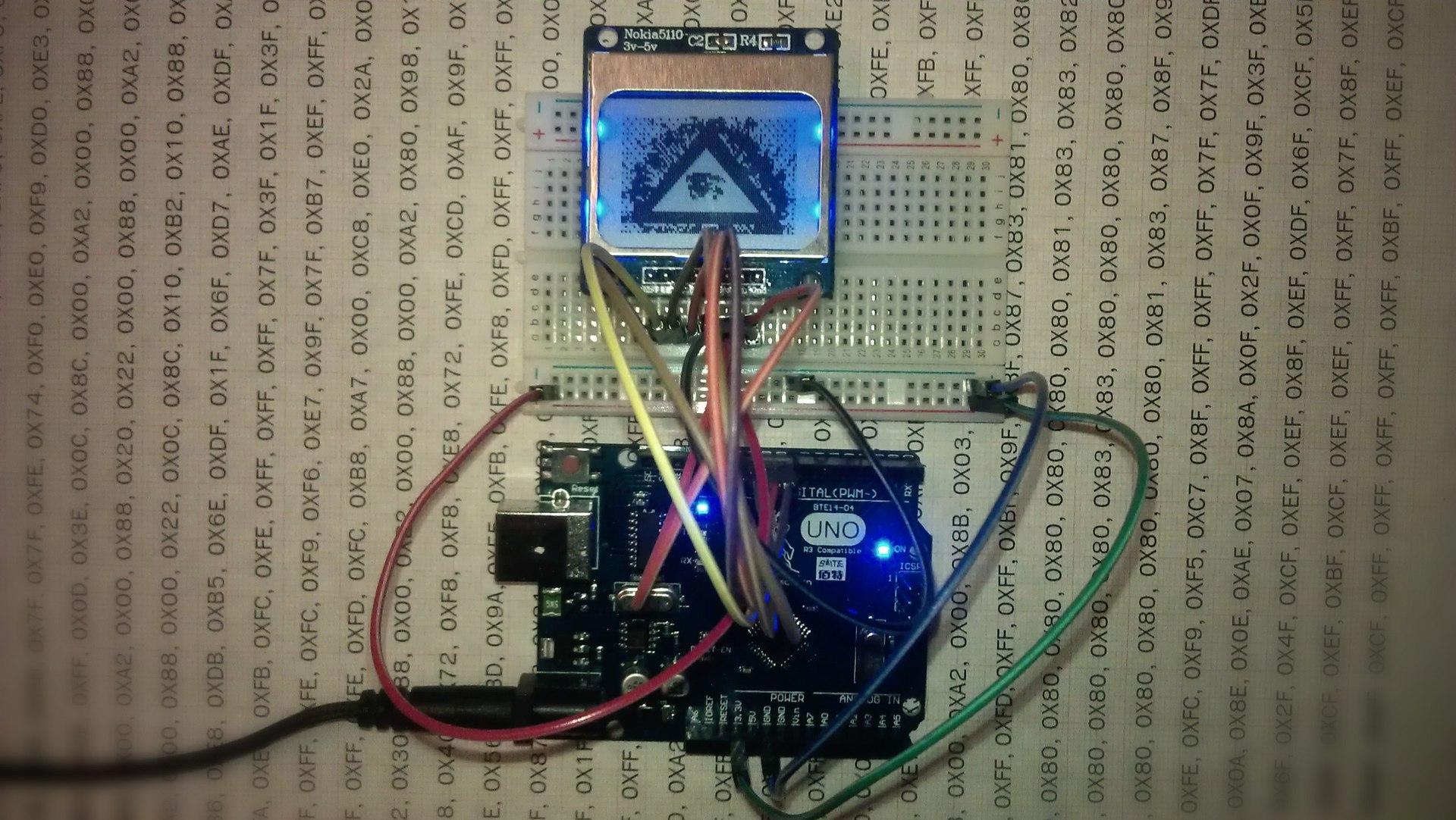 Arduino, модуль Nokia 5110 LCD и любая картинка - 1