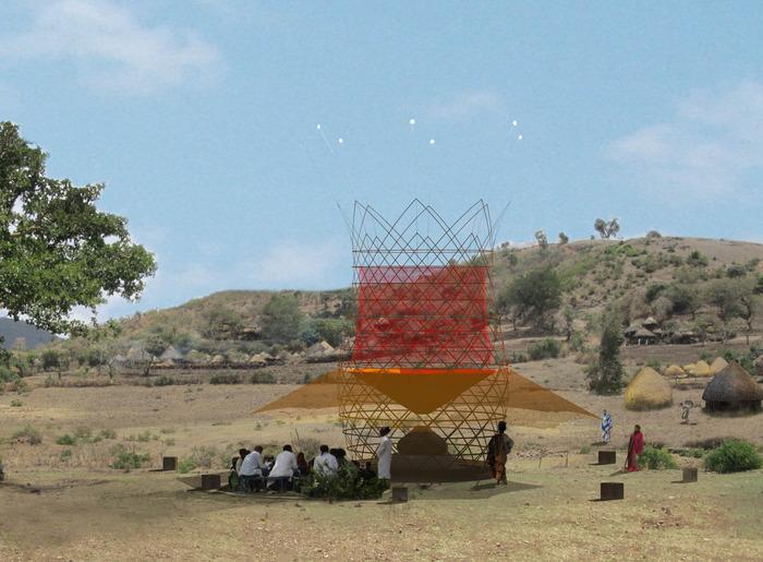 Бамбуковая башня, которая добывает воду из воздуха - 1