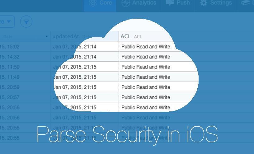Безопасность Parse в iOS приложении - 1