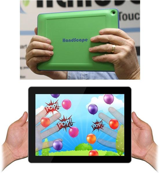 Сенсорный чехол HandScape — новый способ взаимодействия с планшетом