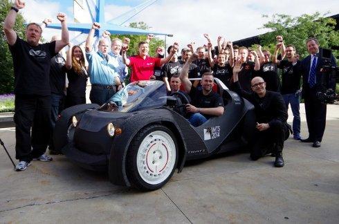 На 3D принтере напечатали первый в мире серийный автомобиль (ФОТО)