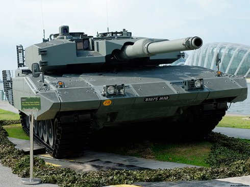 Возможности нового немецкого танка Leopard 2A7 показали на видео